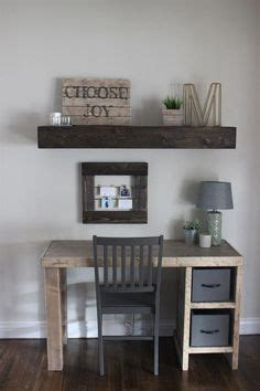 This home office desk is an easy build! Erin at