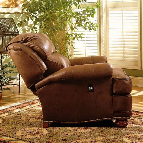 Upholstered Tilt-Back Reclining Chair & Ottoman by Smith