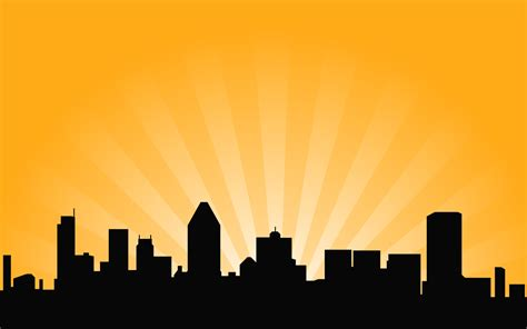City Skyline Vector Background - Background Labs