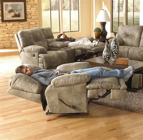 """POWER Single Seat """"Lay Flat"""" Recliner by Catnapper   Wolf"""