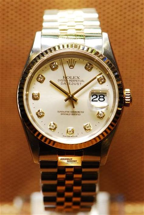 [SOLD] ROLEX OYSTER PERPETUAL DATEJUST HALF-GOLD DIAMOND
