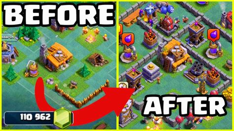 170,000 GEMS to MAX! Clash of Clans Builder Hall 1 - 5 in