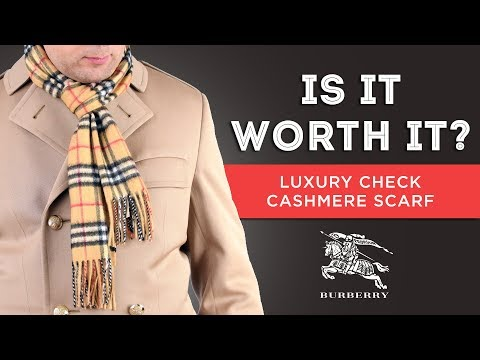 Burberry - Mega Check Cashmere Scarf Mid Grey | Luxury Bags