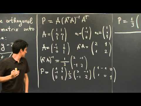 Linear Algebra 15d: The Projection Transformation - YouTube