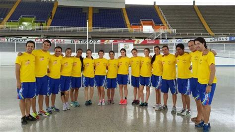 Colombian team at the 2013 Artistic rollerskating World